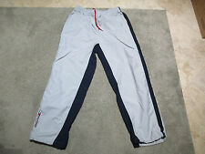 VINTAGE Tommy Hilfiger Windbreaker Pants Adult Exta Large Gray Spell Out Logo S