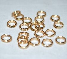 14K Gold-Filled 4.9mm OD Round Split Jump Ring Jewelry Beading Craft Finding 20p