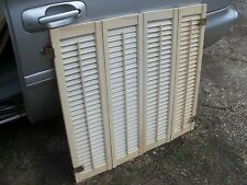 VTG Colonial Wood Interior Louver Plantation Window Shutters