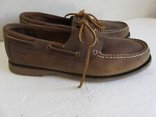 Clark Boat Shoes Brown Leather Mens 10.5D