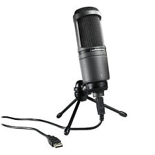 Audio-Technica AT2020 USB Cardioid Condenser USB Microphone. Authorized Dealer