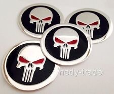 PUNISHER Wheel Center Caps Stickers Alu Badge Decal Label 60mm Set of 4pcs