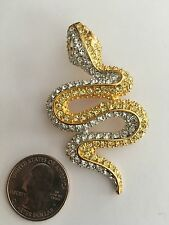 VINTAGE KENNETH LANE SNAKE SERPANT  BROOCH  SIGNED