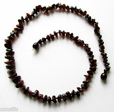 Genuine Baltic amber necklace 45 cm, polished cherry nut shape rounded beads