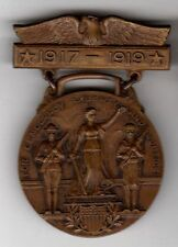 Original US Chester Pennsylvania WWI Victory Service Pinback Medal Cross 1917-19