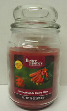 Scented Large Candle- Honeysuckle Berry Bliss- 18oz - Burn Time Approx 80 Hours