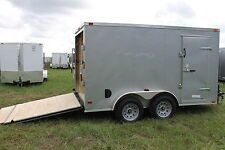 New 6X12 Enclosed Trailer Cargo Tandem V Nose Utility Motorcycle 14 10 Lawn 2017