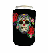 CANDY SKULL DESIGN NEOPRENE CAN COOLER STUBBY HOLDER BEER COSY L&S PRINTS