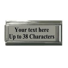 Italian Charms ANY Phrase Words SUPERLINK  Personalised