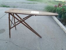 Vintage J R Clark  Used Folding Wood Ironing Board good for decor