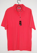 Callaway Men's 3-Button Solid Paradise Red Performance Golf Polo, Size Large