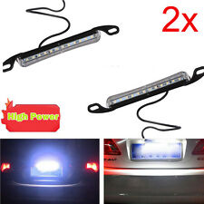 2x Xenon White 12-SMD Bolt-On LED License Plate Light Lamp For Car Universal Fit