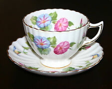 "VINTAGE ENGLISH BONE CHINA REG. CUP & SAUCER   ""MORNING GLORY""   BY RADFORDS"