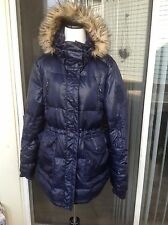 NEW$385 Women's Blue Ralph Lauren Long Down Winter Coat with a Hood- size L