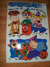 1998 Rugrats 2 pc Color-Clings Halloween Window Decoration NOS