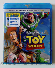 Disney Toy Story 1 on 3D Blu-ray DVD & Digital Copy The Original Pixar CGI Film