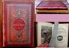 1879 - Jules Verne - Les 500 millions de la bégum - Aux initiales JV-JH - Brique