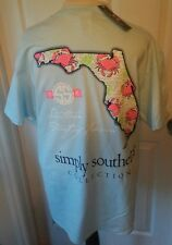 "NWT Simply Southern ""Southern Part of Heaven"" Florida Womens Sz. Medium T-Shirt"