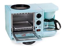 Elite 1-Slice Blue Toaster Oven 3-in-1 Multifunction Mini Breakfast Station  NEW