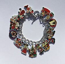 Mickey Mouse Bracelet Disney Christmas Minnie Mouse 15 Charm