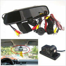 "120°Wide Angle Camera With Reverse Radar + 4.3""Rearview Mirror Colourful Monitor"