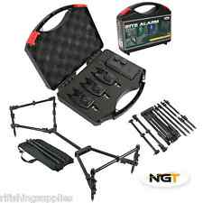 CARP FISHING COMPACT NOMADIC ROD POD + NGT WIRELESS BITE ALARM + RECIEVER SET