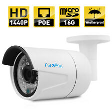 Reolink AutoFocus IP Camera 4MP POE P2P Built-in 16GB Micro sd RLC 410S