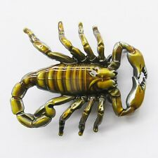 NEW YELLOW SCORPION 3D RODEO WESTERN COWBOY BELT BUCKLE