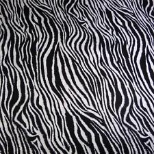Quilter's Choice Cotton Fabric, Zebra Print, Black & White, Per 1/2 Yd