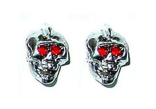 Guitar Parts SKULL KNOBS Set of 2 - CHROME w/ RED EYES
