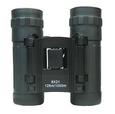 New Lightweight BLACK BINOCULARS 8x21 Army Pocket Military Compact Zoom Hiking