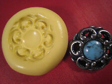 Button Bling Silicone Mold Gumpaste Fondant Cake Chocolate polymer  clay #299B6