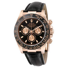 Rolex Cosmograph Daytona Automatic Black Dial 18kt Rose Gold Mens Watch 116515LN