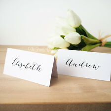 Wedding Name Cards Personalised Place Cards Calligraphy Guest List White Favours