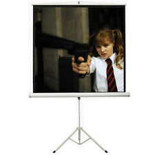 100'' Projector Movie Tripod Projection Screen Portable Pull-Up Matte 180X180CM