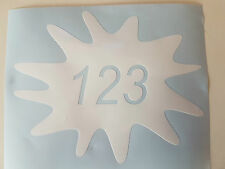 Wheelie Bin Splat House Number Sticker x2