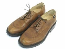 Vtg Brown Leather Air walkers job shoes oxfords made in Spain