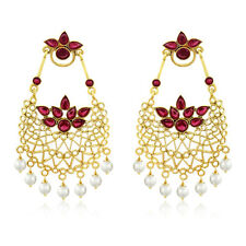 Spargz Pearl Jhoomer Gold Plated Earrings For Women AIER 597