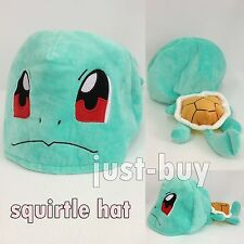 Squirtle Nintendo Pokemon Hat Plush Soft Toy Character Cloth Cosplay Cap Lovely