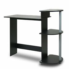 Furinno Compact Computer Desk For Space Saving In Black-Grey Finish 11181BK/GY