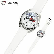 MONTRE HELLO KITTY MARIN blanche Strass AVON NEUF