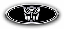 Ford F150 2007-2013 Autobot Custom Overlay Emblem Decals 3PC Kit Blk/Chrome w/BC