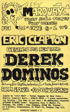 ERIC CLAPTON DEREK & THE DOMINOES REPRO 1970 TORQUAY CONCERT POSTER . NOT CD DVD
