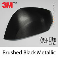 10x20cm FILM Brushed Black Metallic 3M 1080 BR212 Vinyle COVERING Wrap Film