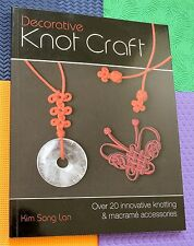KNOTTING BOOK Decorative KNOT CRAFT over 20 designs making jewelry