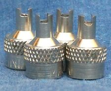 ➃ NORS VALVE STEM CAPS ▐ 1930s FORD CHEVROLET CHEVY CADILLAC PACKARD CAR TRUCK ▐