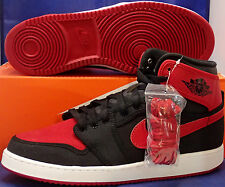 Nike Air Jordan 1 AJ1 KO High OG BRED Black Red Bulls 638471 001 Retro XI Sz 9