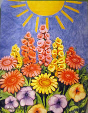 "Sunny Day Spring House Flag Floral Sunshine 28"" x 40"""