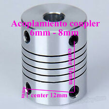 Motor Shaft Coupling Coupler 6mm To 8mm para Nema 17 Reprap CNC 3D Printer Prusa