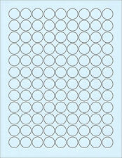 "6 SHEETS 3/4"" CIRCLE BLANK BLUE 648 STICKERS LABELS~FITS CHOC.KISSES BOTTOMS TOO"